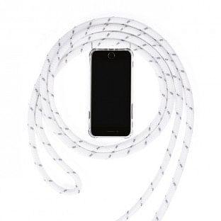 iPhone 7 Plus / 8 Plus Necklace Handyhülle aus Gummi mit Kordel Rosa