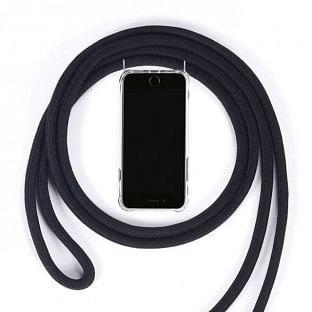 iPhone 11 Pro Necklace Handyhülle aus Gummi mit Kordel Rosa