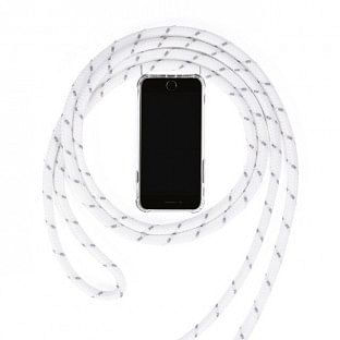 iPhone 11 Pro Necklace Handyhülle aus Gummi mit Kordel Weiss