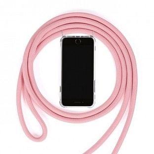 Huawei P30 Lite Necklace Handyhülle aus Gummi mit Kordel Rosa
