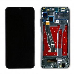 Huawei Honor 8X Ersatzdisplay mit Rahmen LCD Digitizer