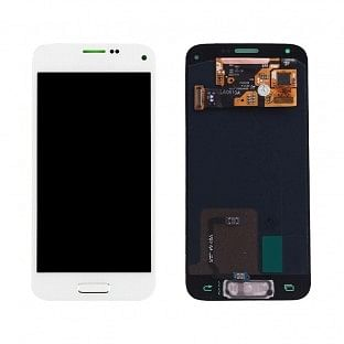 Ersatzdisplay Samsung Galaxy S5 Mini AMOLED LCD Digitizer Weiss