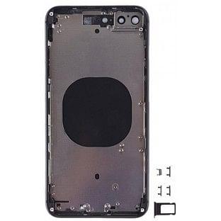 iPhone 8 Plus Backcover mit Rahmen vormontiert Schwarz