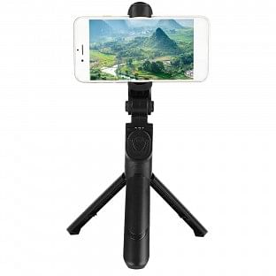 XT-09 Tripod Selfie Rod Universal Wireless Bluetooth Remote Control Portable Stabilizer Bracket Black