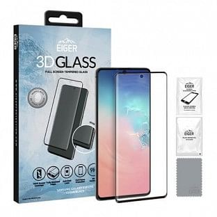 Eiger Samsung Galaxy S10 Lite 3D Glass Display Schutzfolie für die Nutzung mit Hülle geeignet (EGSP00567)