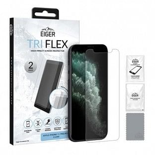 Eiger Apple iPhone 11 Pro Display-Glas (1er Pack) Tri Flex High-Impact clear