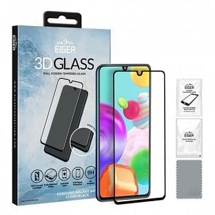 Eiger Samsung Galaxy A41 3D Glass Display Schutzglas für die Nutzung mit Hülle geeignet (EGSP00591)