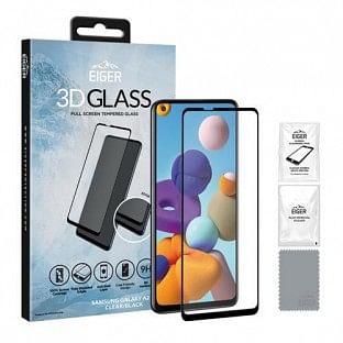 Eiger Samsung Galaxy A21s 3D Glass Display Schutzglas für die Nutzung mit Hülle geeignet (EGSP00618)