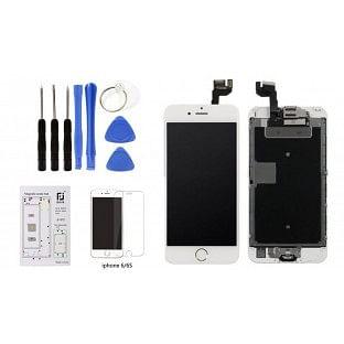 Bundle: iPhone 6S Komplettdisplay Weiss vormontiert mit 8 in 1 Werkzeugset (A1633, A1688, A1691, A1700)