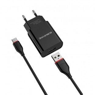 USB-C Ladegerät Borofone BA20A Schwarz
