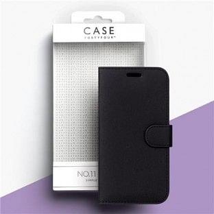 Case 44 Faltbare Hülle mit Kreditkarten-Halterung für das iPhone SE (2020) / 8 / 7 /6S / 6 Schwarz