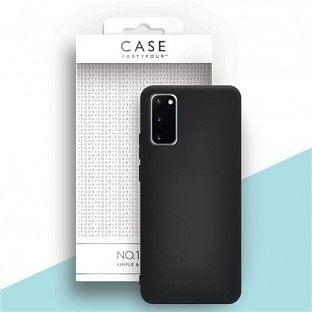 Case 44 Silikon Backcover für Samsung Galaxy S20 Schwarz (CFFCA0343)