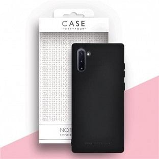 Case 44 Silikon Backcover für Samsung Galaxy Note 10 Schwarz (CFFCA0323)