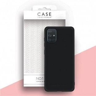 Case 44 Silikon Backcover für Samsung Galaxy A71 Schwarz (CFFCA0415)