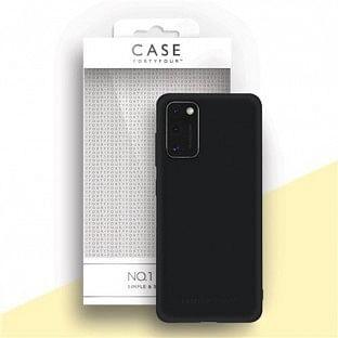 Case 44 Silikon Backcover für Samsung Galaxy A41 Schwarz (CFFCA0439)