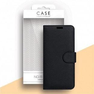 Case 44 faltbare Hülle mit Kreditkarten-Halterung für das Samsung Galaxy A21s Schwarz (CFFCA0447)