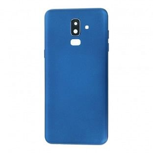 Samsung Galaxy J8 Backcover Akkudeckel Rückschale Blau mit Kamera Linse
