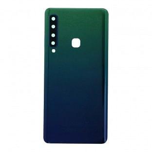 Samsung Galaxy A9 (2018) Backcover Akkudeckel Rückschale Grün mit Kamera Linse und Kleber