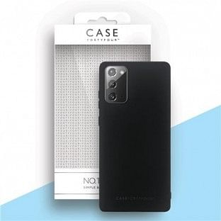 Case 44 Silikon Backcover für Samsung Galaxy Note 20 Schwarz (CFFCA0486)