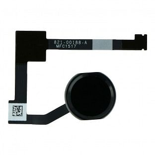 iPad Air 2 / Mini 4 Home Button / Fingerabdruck Sensor mit Flexkabel Schwarz