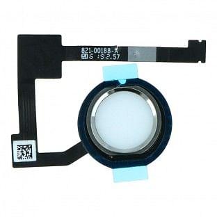 iPad Air 2 / Mini 4 Home Button / Fingerabdruck Sensor mit Flexkabel Silber