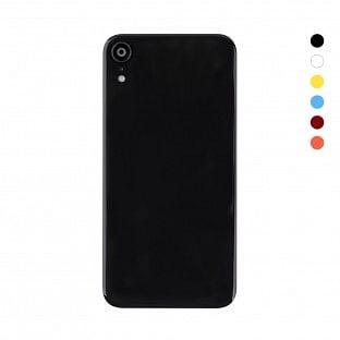 iPhone Xr Backcover Akkudeckel Rückschale mit Kamera Linse Schwarz (A1984, A2105, A2106, A2107)