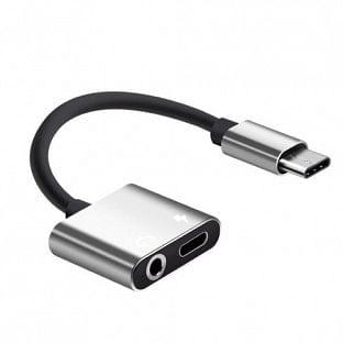 Adapter USB-C zu USB-C und 3.5mm Kopfhöreranschluss