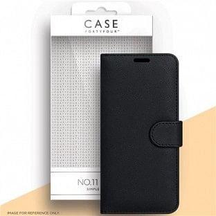 Case 44 faltbare Hülle mit Kreditkarten-Halterung für das Samsung Galaxy A32 5G Schwarz (CFFCA0591)