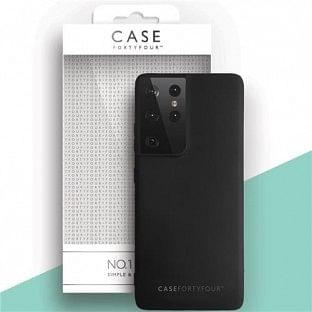 Case 44 Silikon Backcover für Samsung Galaxy S21 Ultra Schwarz (CFFCA0549)