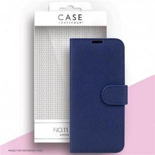 Case 44 faltbare Hülle mit Kreditkarten-Halterung für das Samsung Galaxy S21 Ultra Blau (CFFCA0561)
