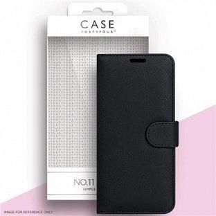 Case 44 faltbare Hülle mit Kreditkarten-Halterung für das Samsung Galaxy S21 Plus Schwarz (CFFCA0555)