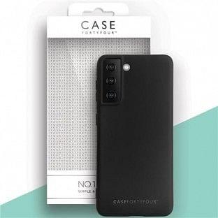 Case 44 Silikon Backcover für Samsung Galaxy S21 Schwarz (CFFCA0547)
