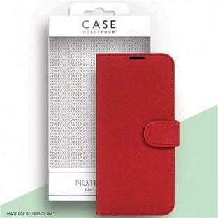 Case 44 faltbare Hülle mit Kreditkarten-Halterung für das Samsung Galaxy S21 Rot (CFFCA0562)