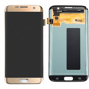 Samsung Galaxy S7 Edge LCD Ersatzdisplay OEM Gold