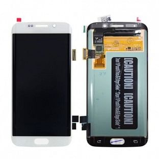 Samsung Galaxy S6 Edge Plus LCD Digitizer Front Ersatzdisplay OEM Weiss