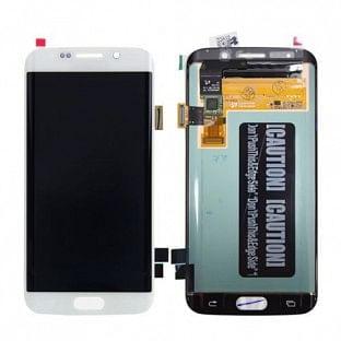 Samsung Galaxy S6 Edge LCD Digitizer Front Ersatzdisplay OEM Weiss