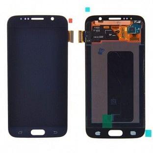 Samsung Galaxy S6 LCD Digitizer Front Ersatzdisplay OEM Dunkelblau
