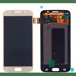 Samsung Galaxy S6 LCD Digitizer Front Ersatzdisplay OEM Gold
