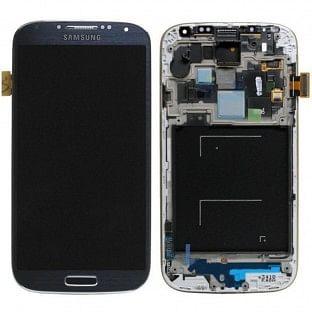 Samsung Galaxy S4 Mini LCD Digitizer Front Ersatzdisplay + Gehäuse OEM Schwarz