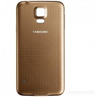 Samsung Galaxy S5 Backcover Rückschale Gold OEM