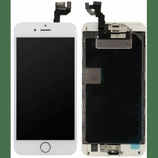 iPhone 6S Plus LCD Digitizer Rahmen Komplettdisplay OEM Weiss Vormontiert