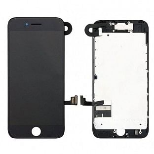 iPhone 7 Plus LCD Digitizer Rahmen Komplettdisplay OEM Schwarz Vormontiert