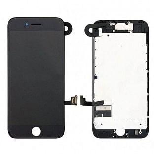 iPhone 7 Plus LCD Digitizer Rahmen Komplettdisplay OEM Schwarz Vormontiert