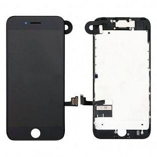 iPhone 7 LCD Digitizer Rahmen Komplettdisplay OEM Schwarz Vormontiert