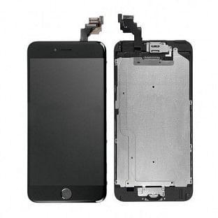iPhone 6 Plus LCD Digitizer Rahmen Komplettdisplay OEM Schwarz Vormontiert