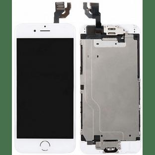 iPhone 6 LCD Digitizer Rahmen Komplettdisplay OEM Weiss Vormontiert