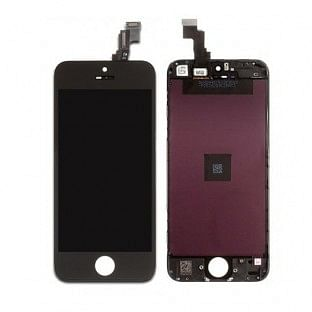 iPhone 5C LCD Digitizer Rahmen Ersatzdisplay OEM Schwarz
