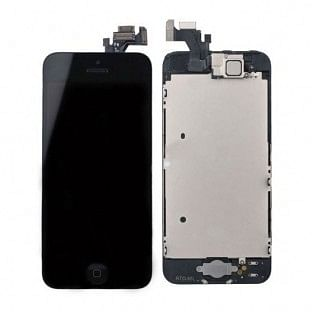 iPhone 5 LCD Digitizer Rahmen Komplettdisplay Schwarz Vormontiert