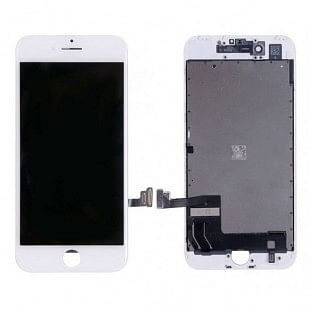 iPhone 8 LCD Digitizer Rahmen Ersatzdisplay OEM Weiss