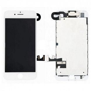 iPhone 8 Plus LCD Digitizer Rahmen Komplettdisplay OEM Weiss Vormontiert